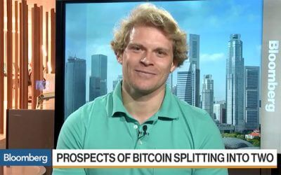 Julian Hosp on Bloomberg Today: What happens if Bitcoin splits in two?